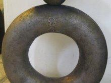 Kunstobjekt in Messing poliert und Bronzeguss patiniert