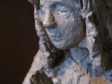 Madonna in Wachsausschmelzverfahren Bronzeguss gegossen