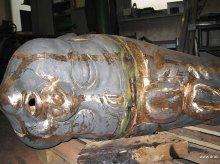 Kasperlkopf in Bronzeguss
