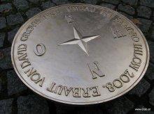 Bodeneinlegeplatte Windrose mit Beschriftung