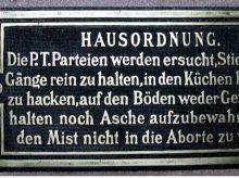 Historische Wiener Hausordnung