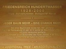 Gedenktafel Friedenreich Hundertwasser
