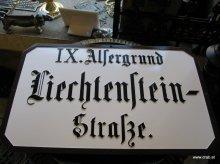 Historische Wiener Strassenbezeichnungstafel